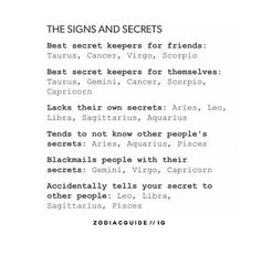Best secret keepers for my friends and myself! ♋️