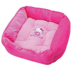 Hello Kitty bed is now available for your pets. Get your cats or dogs sleep in this pink & sweet Hello Kitty bed Don't forget to dress u. Pet Beds, Dog Bed, Hello Kitty House, Hello Kitty Stuff, Hello Kitty Merchandise, Cat Dressed Up, Hello Kitty Themes, Hello Kitty Collection, Pets 3