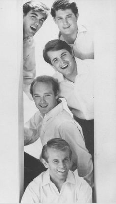 The Beach Boys: (From top, left) brothers Dennis, Brian, and Carl Wilson; cousin Mike Love and California buddy Al Jardine.