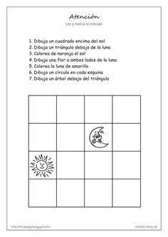 Atención                                   Lee y realiza lo indicado              1. Dibuja un cuadrado encima del sol    ...
