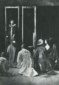 Aleister Crowley conducting the Rite of Saturn, 1910
