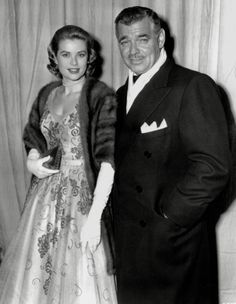 Grace Kelly with Cary Grant at Oscars 1954