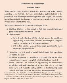 "from the ""Folk Tale"" unit Summative Assessment, Reading Levels, Folk, Students, Language, Study, Classroom, The Unit, Teacher"