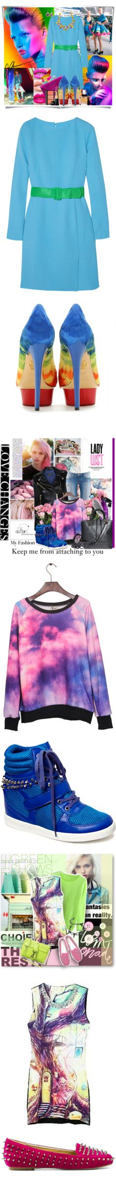"""""""The Rainbow Connection: 3 Colorful Outfits"""" by polyvore-editorial ❤ liked on Polyvore"""