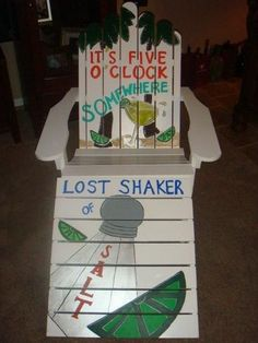 "Custom made Jimmy Buffett themed ""Lost Shaker of Salt"" Adirondack Chair by antonia"