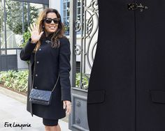 Eva Longoria is beautiful with her Fay Coat.