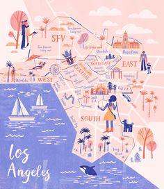Wenjia Tang - LA-Weekly-Map-Illustration