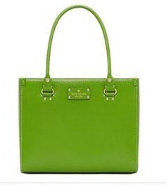 My bag in green!!: Kate Spade Wellesley Quinn Vine Green Leather Handbag