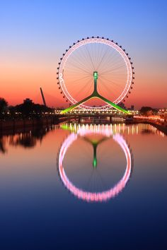 Tian-Jin Eye, China - the only Ferris wheel in the world that was built on a bridge