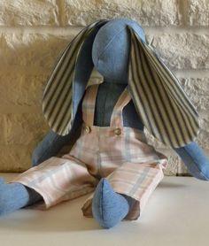 Denim Rabbit by DakotaKids on Etsy, $45.00