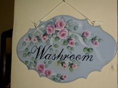 Washroom plaque