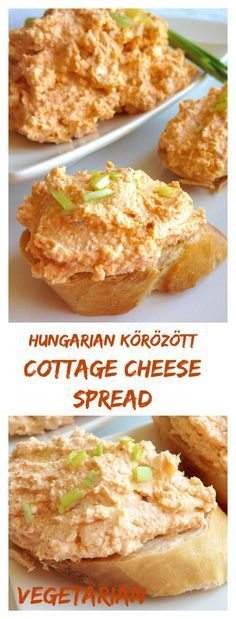 Hungarian cottage cheese spread Körözött is a favorite in Hungary Main spices are ground caraway seeds that give its unique taste and sweet paprika powder. Hungarian Cuisine, European Cuisine, Hungarian Food, Croatian Recipes, Hungarian Recipes, Chutney, Tapenade, Pesto, Cottage Cheese Recipes