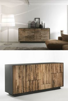 Briccola wood sideboard with drawers RIALTO MODULO 4 by Riva 1920 | #design Giuliano Cappelletti Riva Industria Mobili