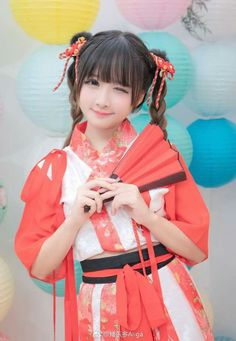 Cute Cosplay, Amazing Cosplay, Cosplay Outfits, Anime Cosplay Girls, Asian Cute, Kawaii Girl, Portrait Photo, Black Is Beautiful, Traditional Outfits