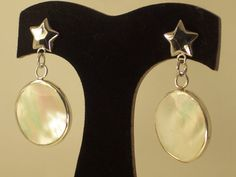 b76ccb6a4170 MOTHER of PEARL SILVER Earrings Nacar Silver by StyleCenter