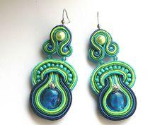 Made by Bajobongo, Poland Turquoise Bracelet, Crochet Earrings, Drop Earrings, Etsy, Poland, Bracelets, Shopping, Jewelry, Fashion