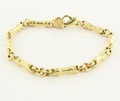 Estate Tiffany & Co Mens 18k Yellow Gold Link Bracelet Designer Jewelry 8.25 $1,995
