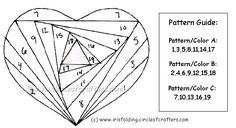 iris folding free patterns | Iris Folding @ CircleOfCrafters.com: Free Heart Pattern