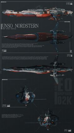 UNSO NORDSTERN DEEP SPACE VESSEL SHEMATICS by GeneralPeer