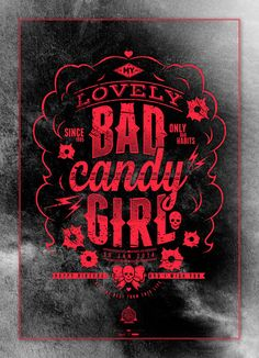 Bad Candy Girl by Valerio Moretta, via Behance