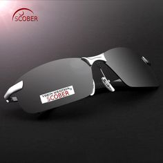8eb84cfc2ac SCOBER   Luxury Sport s Rimless Polarized Sunglasses Brown And Gray Lens  Driver s Tac Enhanced Polaroid