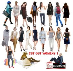 cut out people,women_s