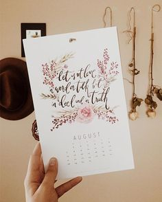It's funny how I picked this out as a Christmas present back in December, just because I liked the pretty fonts and flowers. But here I am, nearing the end of this calendar, and I feel like every time I flip to the next month (even if it's ten days late...😬) the verse is always spot on. I just love that we have a God with a sneaky love for us that pops up in random places, just as a reminder that he's there.