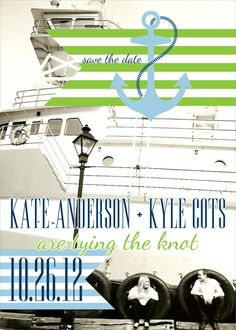 nautical save the dates, save the date magnets, green save the dates, blue save the dates, anchor save the date magnets, party box design, nautical