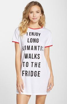 Free shipping and returns on MINKPINK 'Romantic Walks' Sleep Shirt at Nordstrom.com. There ain't no shame in a sleepy-eyed romp for a midnight snack. Preach it, oversized tee.