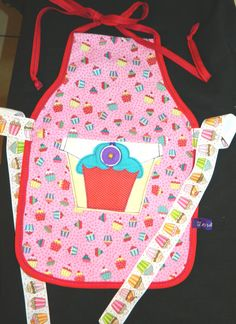 Girls Cupcake Reversible Apron by TeriClothCreations on Etsy, $35.00