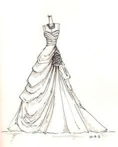 www.etsy.com/shop/dresssketch Wedding Dress Sketches, Dress Design Sketches, Fashion Design Sketchbook, Fashion Design Drawings, Illustration Mode, Fashion Illustration Sketches, Fashion Design Sketches, Illustrations, Drawings Pinterest