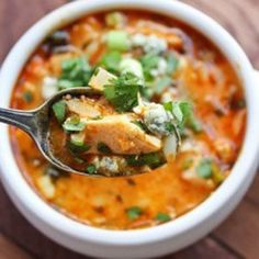 Paleo Buffalo Chicken Soup and more paleo chicken soup recipes on MyNaturalFamily.com #paleo #chicken #recipe
