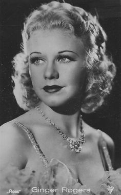 Ginger Rogers, actress, singer, dancer: costarred in numerous movies with Fred Astair.