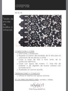 El dossier de las telas Skarlett Fabric Yarn, How To Dye Fabric, Textile Patterns, Sewing Patterns, Sewing Hacks, Sewing Projects, Diy Bralette, Textiles Sketchbook, Sewing School