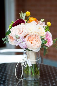 little miss lovely floral design // baltimore maryland columbus center wedding // autumn wedding florals