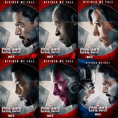 NEW !!! Character Posters from Captain America: Civil War featuring Team Ironman