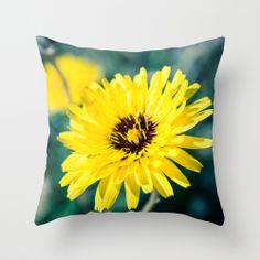Yellow Friday Throw Pillow by Ia Loredana | Society6   #Pillow #AreaPillow #ThrowPillow #artprint #print #natureprint #floralprint #colorprint #photographyprint #outdoordecor #indoordecor