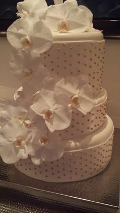Gorgeous wedding cake at this Ritz-Carlton Hal Harbour wedding.