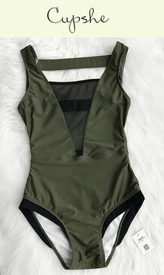 Pick up one swimwear for your beach leave~ Glad You Are Here One-piece Swimsuit is the best choice. FREE Shipping! Its mesh splicing and high let cut design will give you a hit on the beach. Check it out!