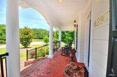 We love this brick front porch! #homeaccents #realestate