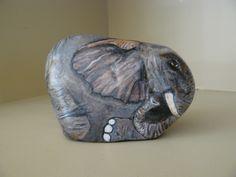 Carla Austen:  Painted Elephant Rock.