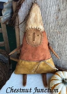 Primitive CANDY CORN doll - halloween / fall - FINISHED   eBay