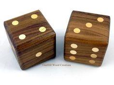 Wooden Dice – Walnut – Large