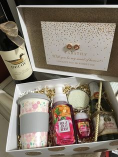 Maid Of Honor Proposal Ideas