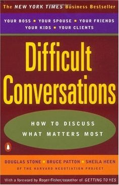So much of creating a successful learning culture rests on nurturing relationships and building community. Difficult Conversations: How to Discuss What Matters Most offers a simple, straightforward approach for dealing with conflict.