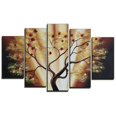 Found+it+at+Wayfair+-+Budding+Cherry+Blossom+Tree+5+Piece+Original+Painting+on+Canvas+Set