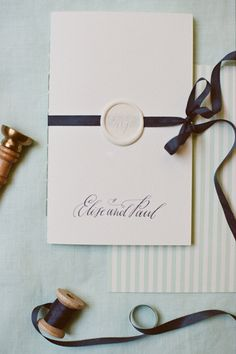 wax seal invitation | Mandy Busby
