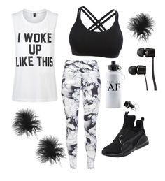 Active by nicoleshautediary on Polyvore featuring polyvore, fashion, style, Private Party, Varley, Puma, Vans and clothing