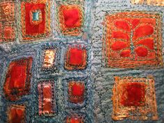 textile art - this is lovely, I love the textures and colours