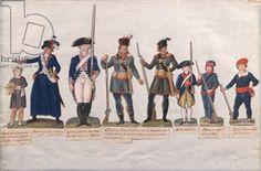 Credit: Characters of the French Revolution (gouache on paper), Lesueur Brothers, (18th century) / Musee de la Ville de Paris, Musee Carnavalet, Paris, France / Giraudon / The Bridgeman Art Library